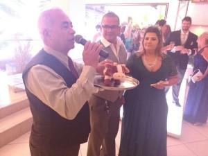 Foto momento que Túlio explicava como seria a passagem da vaquinha entre convidados.
