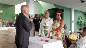 Foto de um dos momentos da cerimônia.