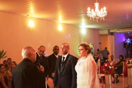 foto momento da celebração, P.Henrique e Bárbara,13.10.18