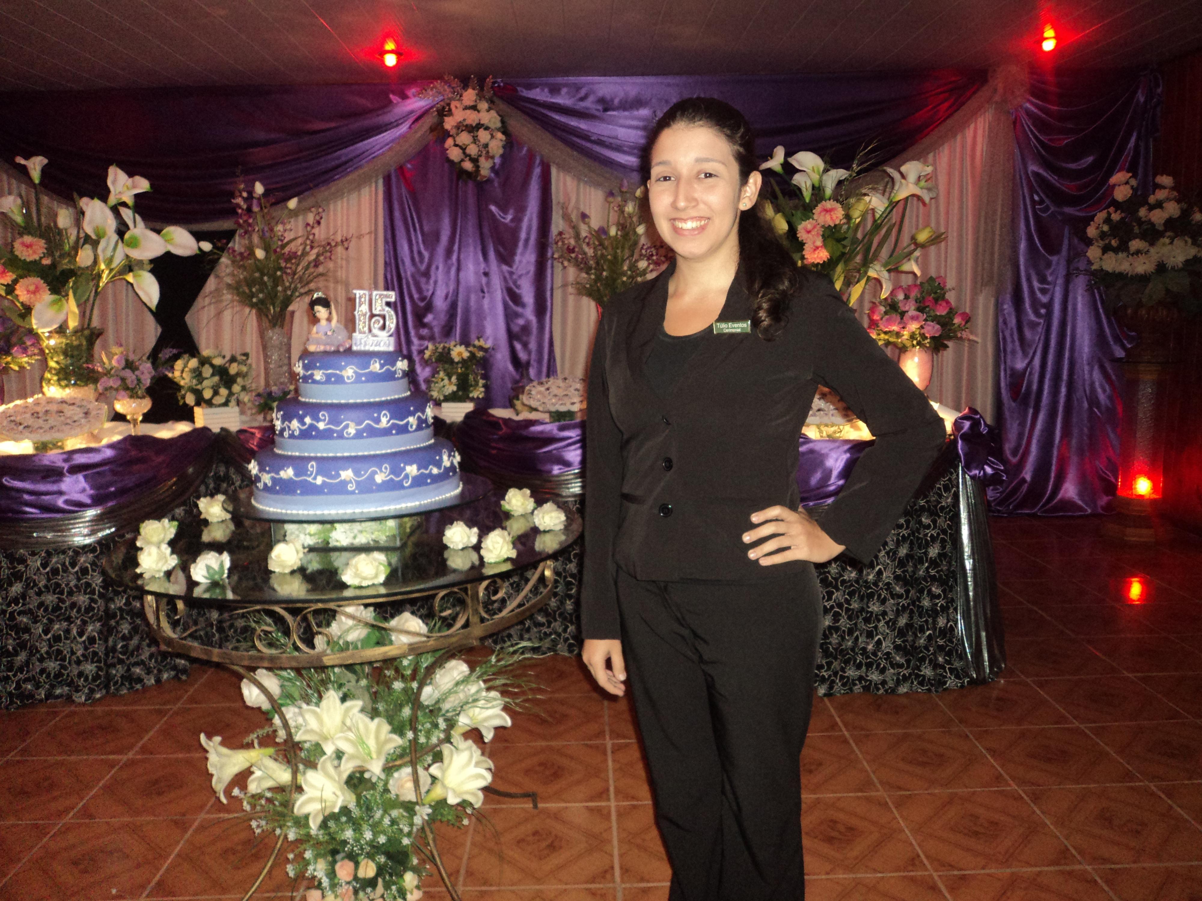 foto assistente de cerimonial Tarciane, Recanto da Amizade, Sepetiba, 2.8.14, Cerimonial 15 anos Leticia Sousa
