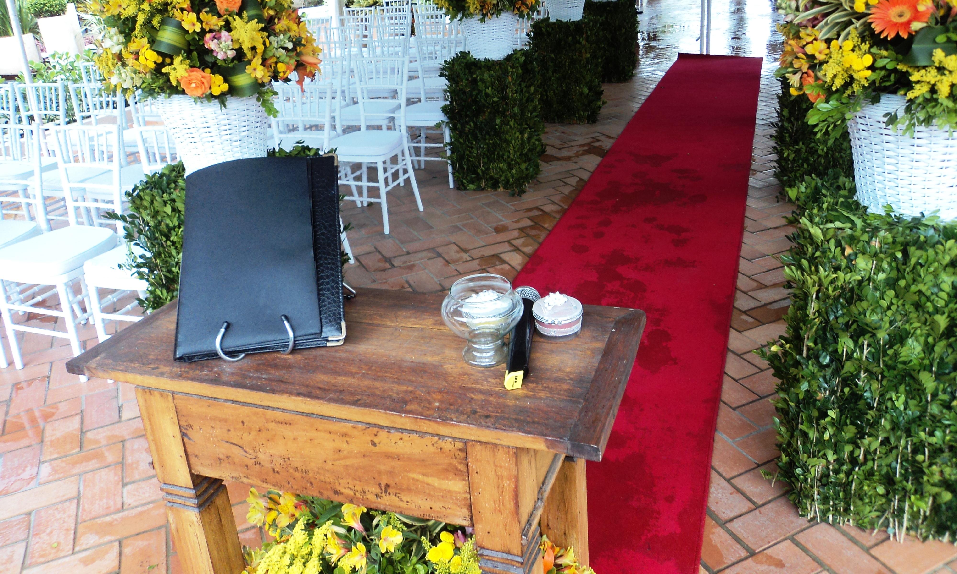 Foto do local da cerimônia de casamento no Sitio Você e Eu.