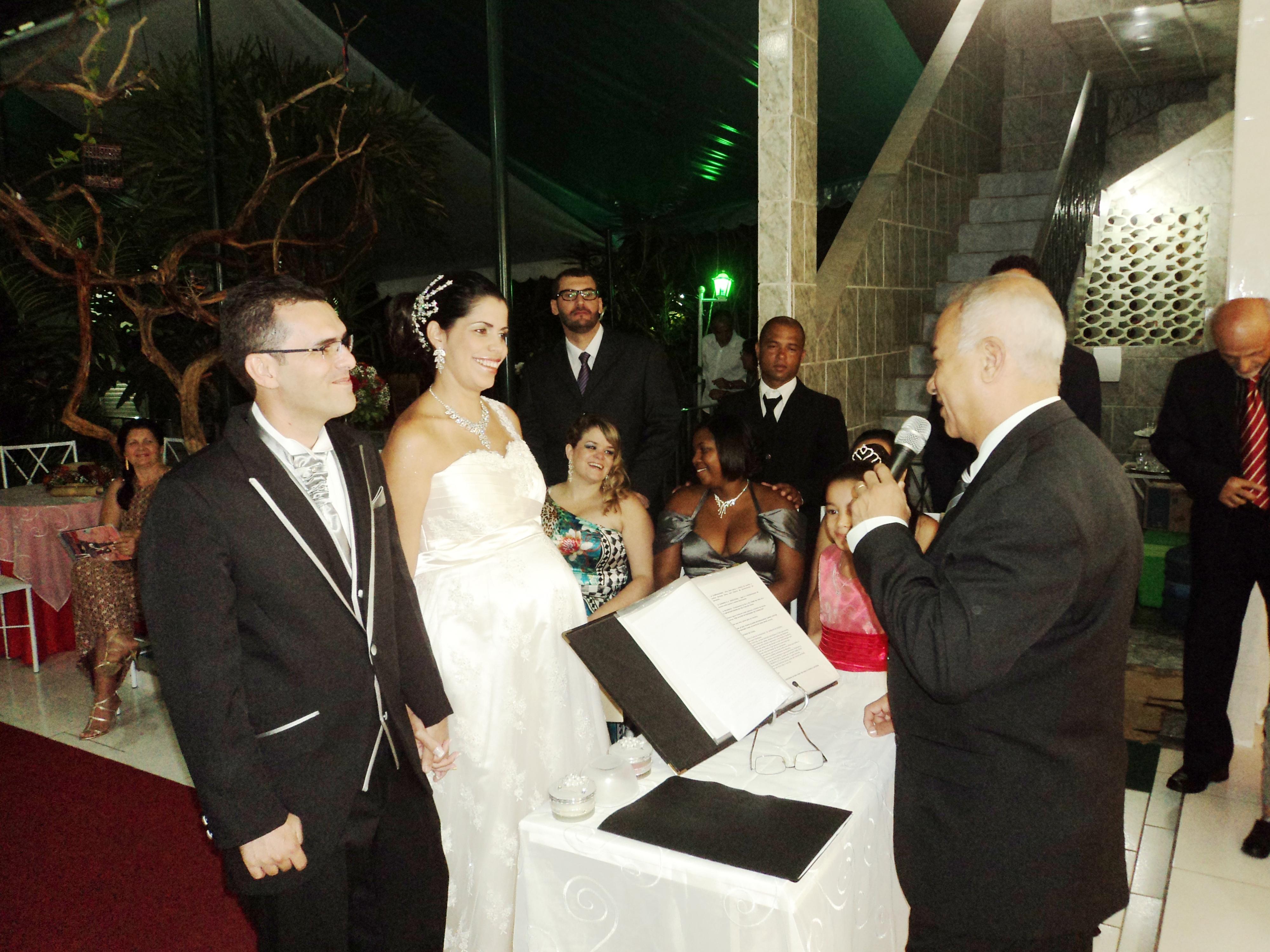 Foto muito boa cerimôna de casamento Marcley e Carla 7.12.13