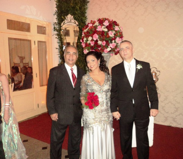 foto Túlio com Jaqueline e Eliezer, Bodas de Prata,26.7.14