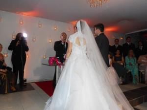 Momento da cerimônia do casal Caio e Nathalia.