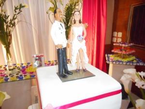 Topo de bolo dos noivos Rodolfo e Silvia.