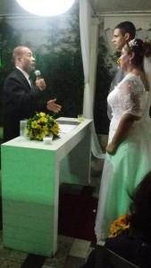 Um dos momentos da cerimônia.
