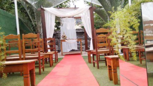 foto local da cerimônia, 4.2.18, Mansão Valqueire