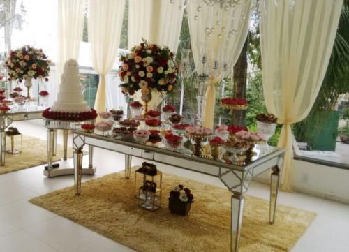 foto mesa do bolo,4.2.18, Mansão Valqueire