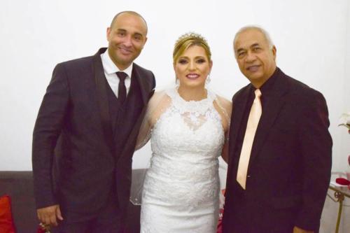 foto eu com noivos Paulo Henrique e Bárbara,13.10.18
